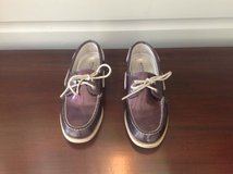 Girls Purple Sparkle Sperry Top-Siders (Shoes) Size 4.5 in Plainfield, Illinois