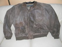 Mens Brown Distressed 3XLT Bomber Jacket in Chicago, Illinois