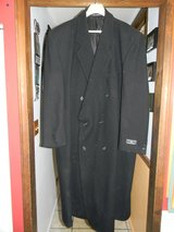 Mens 3XLT Alexander Lloyd Black Business Wool Trench Winter Coat in Chicago, Illinois